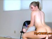 Blonde Teen Stripping Dancing