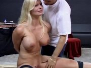 Blonde big natural titts and b