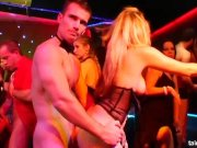 sexual pornstars poking at casino party