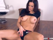 Horny Milf Stacy fucks on the floor