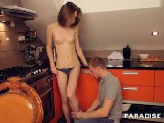 paradise films backdoor slut couple in the kitche