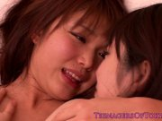 Little asian lesbo kissing