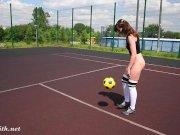 Striptizas futbolo aikštelėje