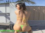 bubble butt slut in hot bikini