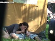 Daring Lovers fucking behind tent near Public Function