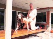 Naughty Grandpa Fucks My Teen Step-sister Licks Pussy She Swallows Cum