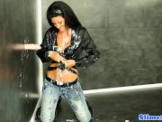 Bukakked babe fingers cum drenched pussy
