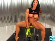 denise masino the all wet arm workout – female bodybuilder