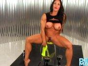 Denise Masino The All Wet Arm Workout - Female Bodybuilder