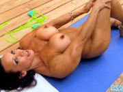 Denise Masino - Back Deck Voyeur - Female Bodybuilder