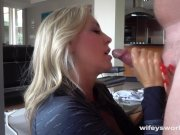 Wifey Swallows A Huge Cum Shot