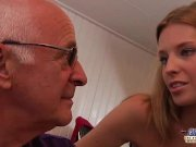 Grandpa teaching young girl how to fuck and suck and old cock