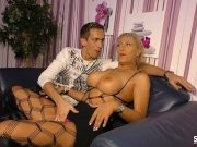 sextape germany – blonde milf with silicone tits nails for first time porn Pornbring.com