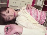 Arisa Suzuki Masturbates Shaved Pussy (Uncensored JAV)
