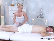 massage rooms horny blonde takes massive british dick in her shaved pussy