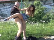 Outdoor Public Doggystyle Amateur POV GERMAN Fuck Compilation
