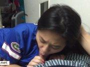 My Asian Gf Dewi 19 chokes in