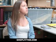 girl shoplyfter patted down & fucked