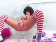Rollergirl London stuffs her wet pussy with a toy