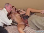 Girl sucking old mans cock and
