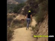 Big Booty Hiking in the Forest MIL live on spicygirlcam,com