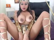 cosplay egyptian with monster boobs-webcam girls on sluttcamgirls,com