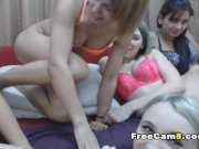 Group of Horny Babes Playing Ass Tits and Pussy