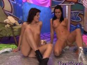 Cowgirl with big tits riding a dildo first