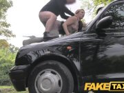 fake taxi knee high boots in fishnet lingerie Bokep