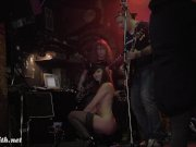 Jeny Smith naked in public on stage