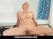 FamilyStrokes - Hot Milf Sucks Off Step-Son