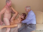 real old guy and slut screaming with joy – group sex party