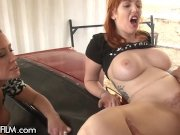 Mom helps Redhead Daughter Fuck Older Man