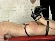 TV mistress abusing her slaves