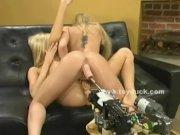 Pair of blonde twin sluts toy sex