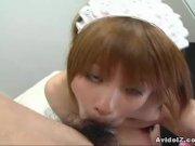 Cute Hitomi Odagiri masturbation and blowjob