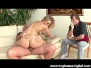 Alexis Texas fucks cock in front of hubby