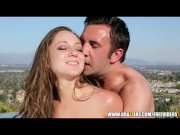 Remy Lacroix oils up her juicy ass for rough anal - brazzers