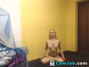 Blonde babe nude yoga session