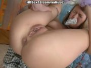 Busty girl squirting and anal fuck