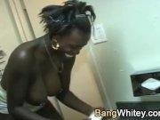 Black girl loves white dick