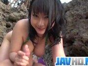 Megumi Haruka amazes in outdoor