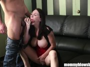 MommyBB Busty mom drinking over a cheating bo
