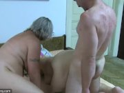 OldNanny Chubby granny bathed and then fucks