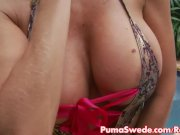 Puma Swede Fingers Her Pussy in Jacuzzi!