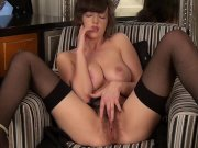 MILFs fuck their hairy pussies compilation