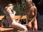 Brutal teen abuse Kate & Tanya in the sun