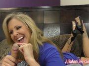 Busty Milf Julia Ann Jacks Him Off!