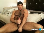 Good Looking Hairy Stud Sean Zevran Enjoys a Dildo and Cums Twice