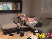 Fake Agent UK Euro babes peachy arse fingered and